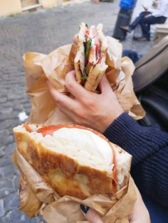 Sandwiches with mozzarella
