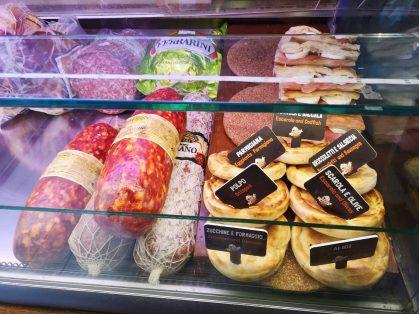 Variety of cheeses & hams
