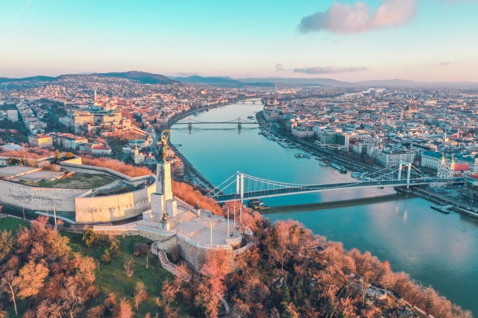 budapest view from above danube