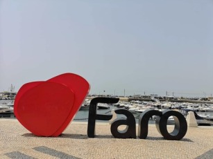 FARO letters in the marina