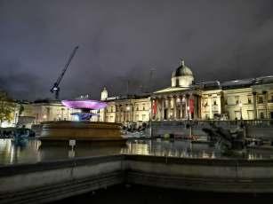 Trafalgar at night